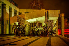 Monument to Polish fighters uprising in Warsaw Poland on DECEMBER 6, 2015 Stock Images