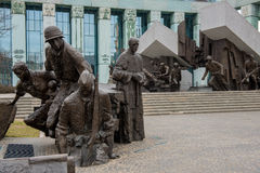 Monument to Polish fighters uprising Stock Photos