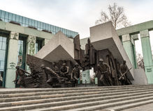 Monument to Polish fighters uprising Stock Image
