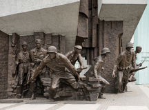 Monument to Polish fighters uprising Stock Images