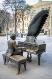 Monument to Polish pianist Arthur Rubinstein. Royalty Free Stock Image