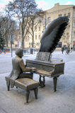 Monument to Polish pianist Arthur Rubinstein. Royalty Free Stock Photography