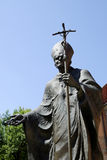 Monument to the Polish Pope John Paul II.  in Krakow Royalty Free Stock Photos