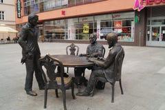 Monument to Polish textile magnates Royalty Free Stock Photo