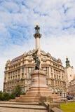 Monument to polish writer Adam Mickiewicz in Lviv, Ukraine. Royalty Free Stock Photo