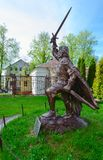 Monument to Polotsk prince Andrey Olgerdovich, Polotsk, Belarus Royalty Free Stock Photography