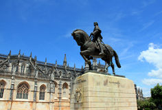 The monument to the Portuguese commander. The monument to the commander Nuno Alvares Pereira in Batalha royalty free stock photography