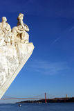 Monument to the portuguese sea discoveries, Lisbon, Portugal Royalty Free Stock Photography