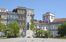 Monument to the Portuguese soldiers, killed during the great war in the Port. Royalty Free Stock Photo