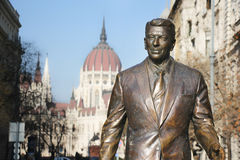 Monument to the president of the USA Ronald Reagan Royalty Free Stock Image