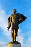 Monument to prince Alexander Yaroslavich Nevsky, closeup view - architecture landmark of Veliky Novgorod, Russia Stock Photo
