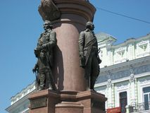 Monument to the prince in the dark in Odessa Stock Image