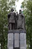 Monument to Prince George Vsevolodovich and Saint Simon of Suzdal, the founders of Nizhny Novgorod. Royalty Free Stock Photography