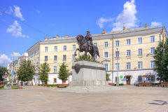 Monument to the prince to Mikhail of Tver Royalty Free Stock Photo