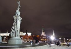 Monument to Prince Vladimir the Great in Moscow Royalty Free Stock Image