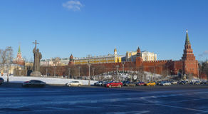 Monument to Prince Vladimir in the Kremlin. In Moscow stock image