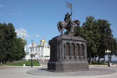 The monument to Prince Vladimir and the saint Fyodor - Baptist of land Vladimir Royalty Free Stock Photography