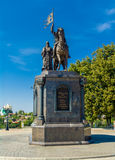 Monument to Prince Vladimir and St Fedor. Monument to Prince Vladimir and St Feodor in Vladimir, Russia royalty free stock images