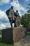 The monument to princes Rurik and Oleg Prophetic in the Old Lado Stock Photo
