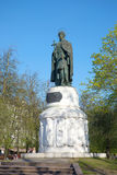 Monument to princess Olga and prince Vladimir, may sunny day. Pskov, Russia Stock Photo