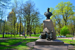 Monument to Przhevalsky in Alexander Garden in St. Petersburg Stock Photos