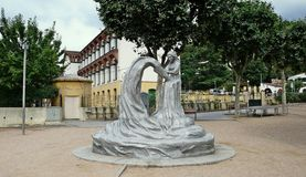 Monument to the puntaire-Arenys de Munt Royalty Free Stock Photo