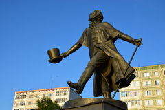 Monument to Pushkin in Astana / Kazakhstan Stock Image
