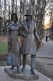 The monument to Pushkin and Goncharova. Royalty Free Stock Image