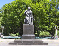 Monument to Pushkin in Kiev in Ukraine stock images