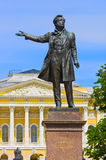 Monument to Pushkin in St.-Petersburg, Russia Stock Photos