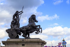 Monument to Queen Boudicca, London Stock Photography