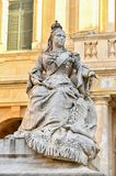 Queen Victoria monument in Valetta, Malta. The monument to Queen Victoria by Giuseppe Valenti, 1891 located in the prominent and popular square in front of the royalty free stock images