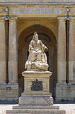 Malta - Queen Victoria. The monument to Queen Victoria (by Giuseppe Valenti, 1891) located in the prominent and popular square in front of the National Library Stock Photo