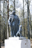 Monument to the Red Army border guard with a service dog in a pu Royalty Free Stock Photography