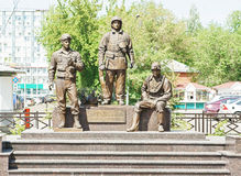 Monument to rescuers and firefighters Stock Photo