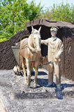Monument to retro miner in Kemerovo city Stock Image
