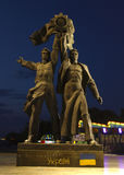Monument to the reunification of Ukraine and Russia stock photos