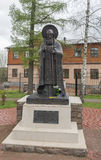 The Monument To Reverend Cornelius ' Pskov-Caves. The City Of Pechora. Russia. Memorial of the Reverend Cornelius ' Pskov-caves Stock Photos
