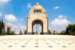 The Monument to the Revolution in Mexico City. On a beautiful summer day royalty free stock image