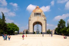 The Monument to the Revolution in Mexico City royalty free stock images