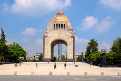 The Monument to the Revolution in Mexico City stock image