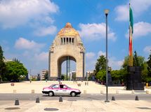 The Monument to the Revolution in Mexico City stock photos