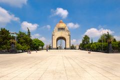 The Monument to the Revolution in Mexico City. On a beautiful summer day stock images