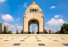 The Monument to the Revolution in Mexico City. On a sunny summer day royalty free stock image