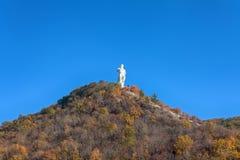 Monument to the revolutionary Artem. Cubist. Svyatogorsk, Ukrain Stock Photo