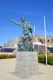 Monument to Robert Surcouf. Saint-Malo, France Royalty Free Stock Photography