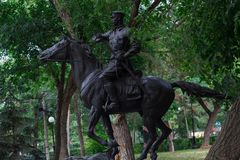 Monument to the royal cavalryman stock photo
