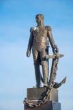 Monument to Russian Admiral Senyavin Stock Photo