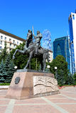 Monument to Russian commander Pyotr Bagration in Moscow. On July 12, 2014 in Moscow Royalty Free Stock Photo