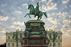 Monument to the Russian Emperor Nicholas 1 Stock Photos